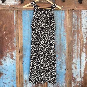Enfocus Studio Black and Cream Print Dress